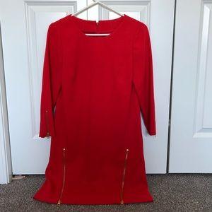 Jcrew double zip shift dress
